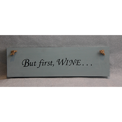 Wooden Board with Wine Quote